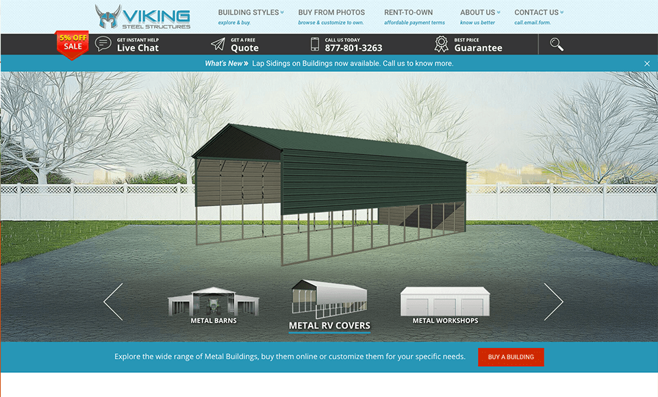 Internet Marketing and SEO Services for Viking Steel Structures Company