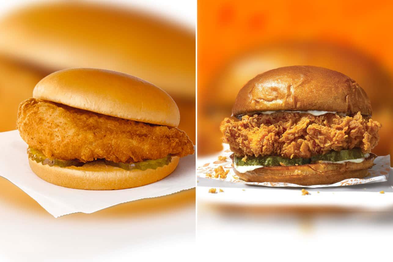 CFA vs Popeyes sandwiches