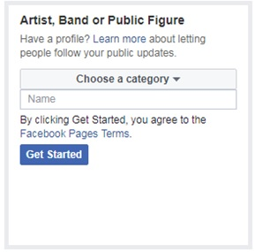 Artist, Band or Public Figure